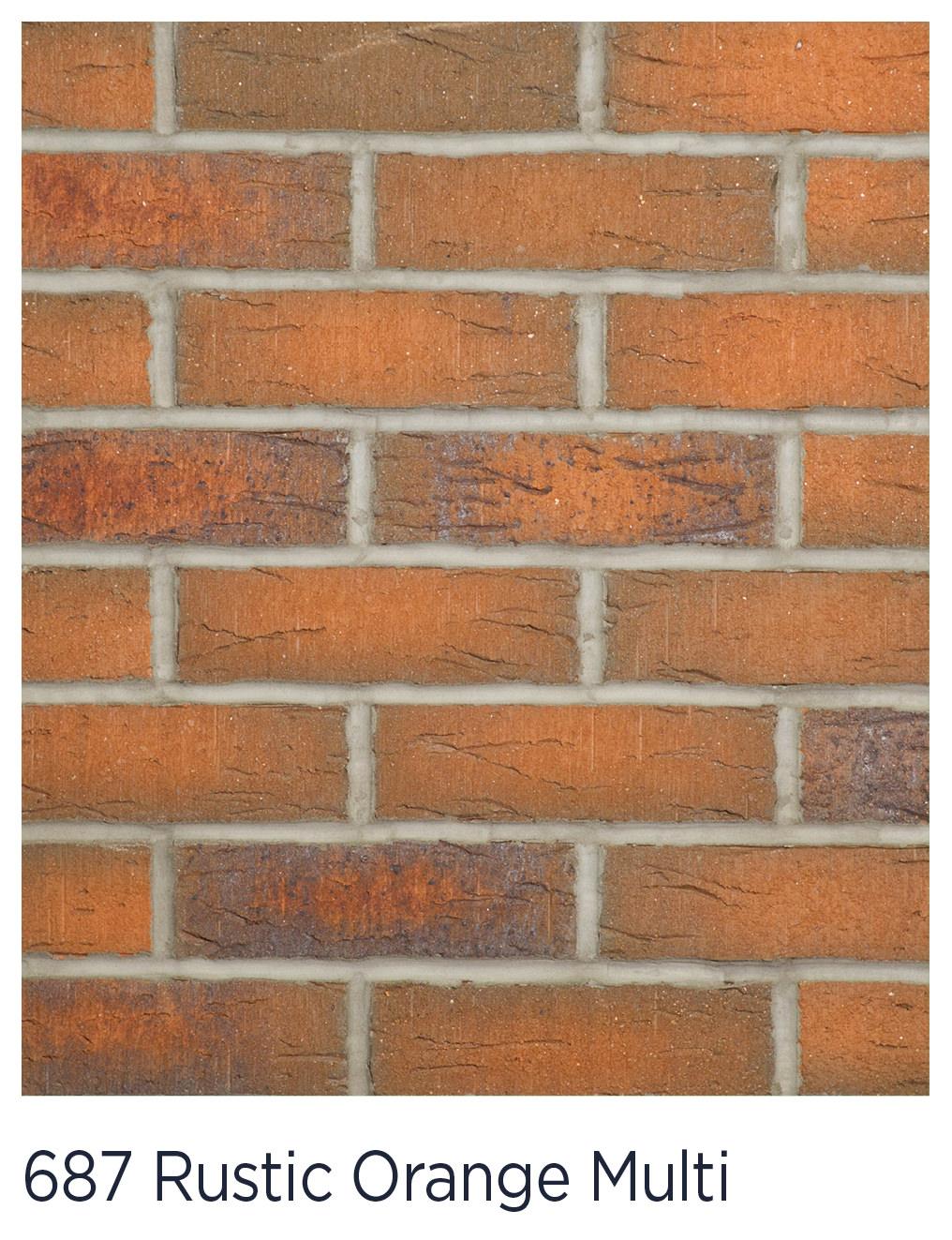687 Rustic Orange Multi