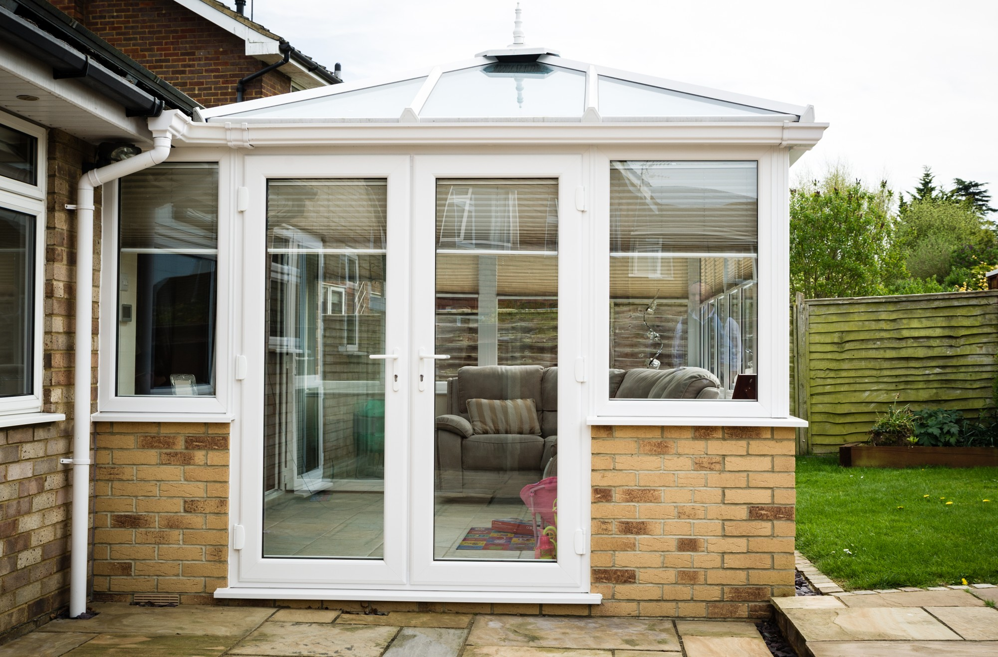 steel box frame for extension cost reading